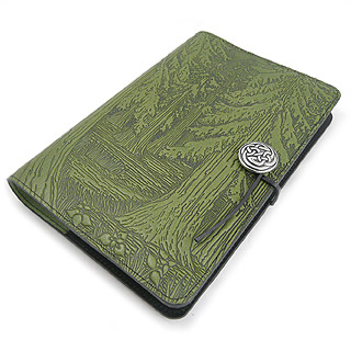 Evergreen Forest Refillable Embossed Leather Journal