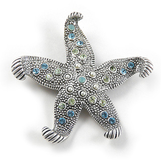 Austrian Crystal Starfish Pin
