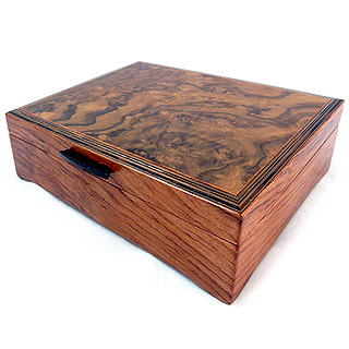 Burl Walnut and Sapele Wood Men's Valet