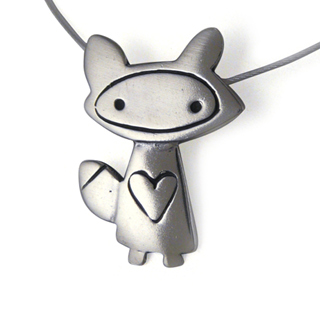 Foxy Girl Sterling Silver Charm Necklace