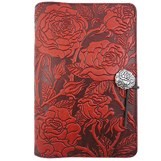 Wild Rose Refillable Embossed Leather Journal