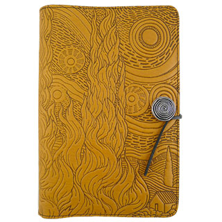 Van Gogh Sky Refillable Embossed Leather Journal