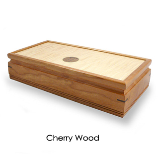 Small Handmade Wooden Jewelry Box with Craftsman-Style Inlay