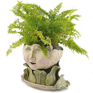 Victorian Lovelies Head Planter - Flaunting Flora Version