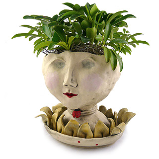Victorian Lovelies Head Planter - Petaluma Lady Version