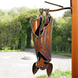 Hanging Bat Garden Sculpture
