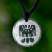 Jade pendant necklace, 'Imox, Maya Eccentric'