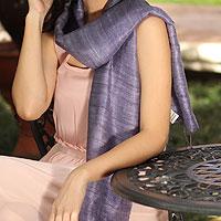 Silk scarf, 'Bold Lily'