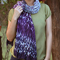 Tie-dyed scarf, 'Fabulous Lily'
