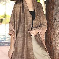 Silk shawl, 'Bold Spice'