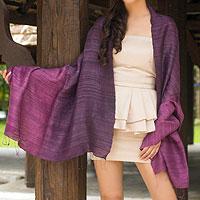 Silk shawl, 'Bold Violet'