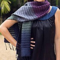 Silk scarf, 'Cool Evolution'
