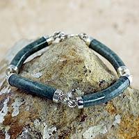 Jade link bracelet, 'Natural Connection'