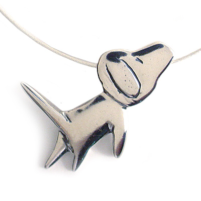 Dog Love Sterling Silver Necklace