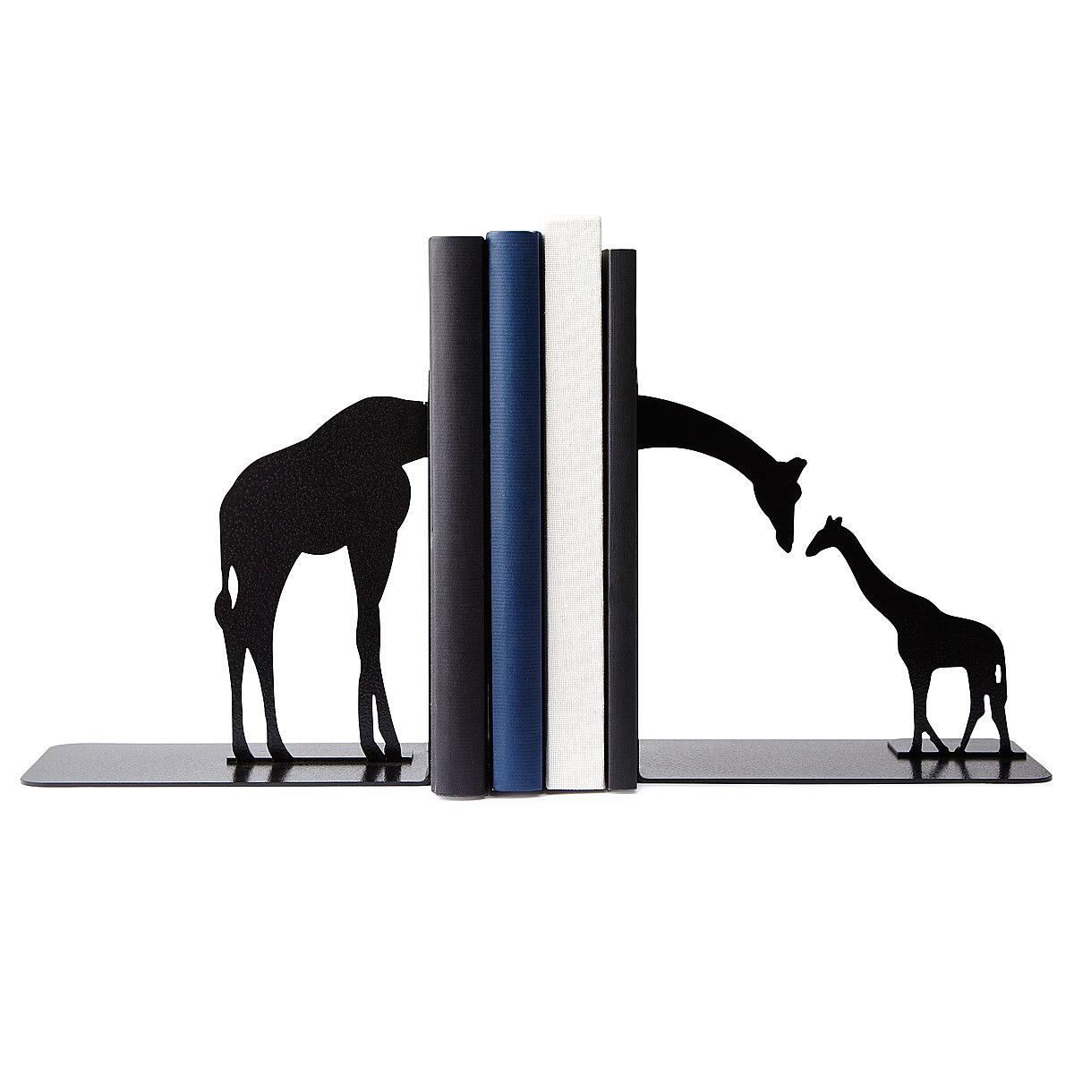 Giraffe Family Bookends