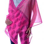 Pink Cotton and Silk Shawl