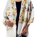 Hand-Loomed Wool Floral Shawl
