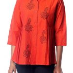 Cotton tunic, 'Jaipur Summer'