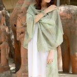 Green Soft Wool Shawl