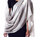 Taupe and Cream Super Soft Wool Shawl Wrap