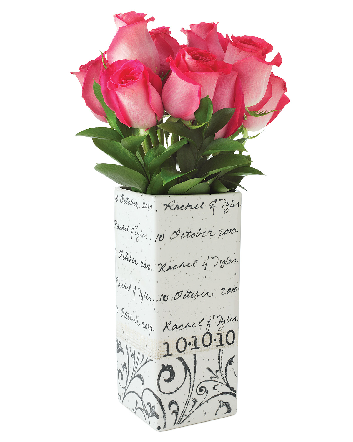 Personalized Cursive Wedding Vase