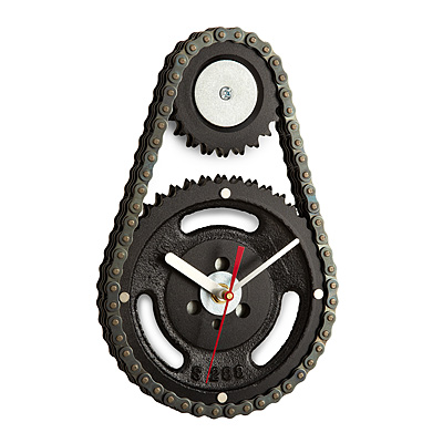 Auto Timing Chain and Gears Wall Clock
