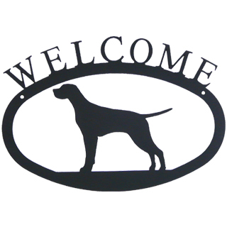 Iron Welcome Sign - Pointer / Game Dog