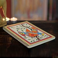 Madhubani painting journal, 'Mango Bird'