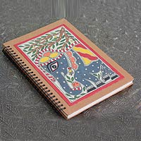 Madhubani painting journal, 'Royal Elephant'