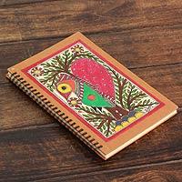 Madhubani journal, 'Bihar Lovebird'