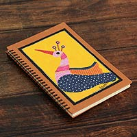 Journal, 'Yellow Gond Peacock'
