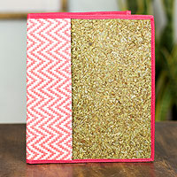 Natural fibers journal cover, 'Mexican Pink'