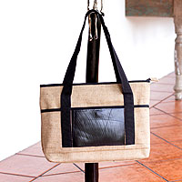 Jute shoulder bag, 'Road Trip'