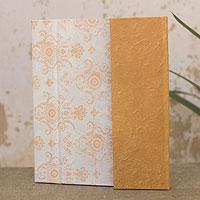 Saa paper journal, 'Ginger Floral'