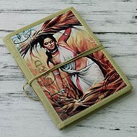 Handmade paper journal, 'At the Fields'