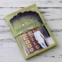 Handmade paper journal, 'Rajasthani Guard'
