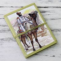 Handmade paper journal, 'Rajasthani Gentleman'