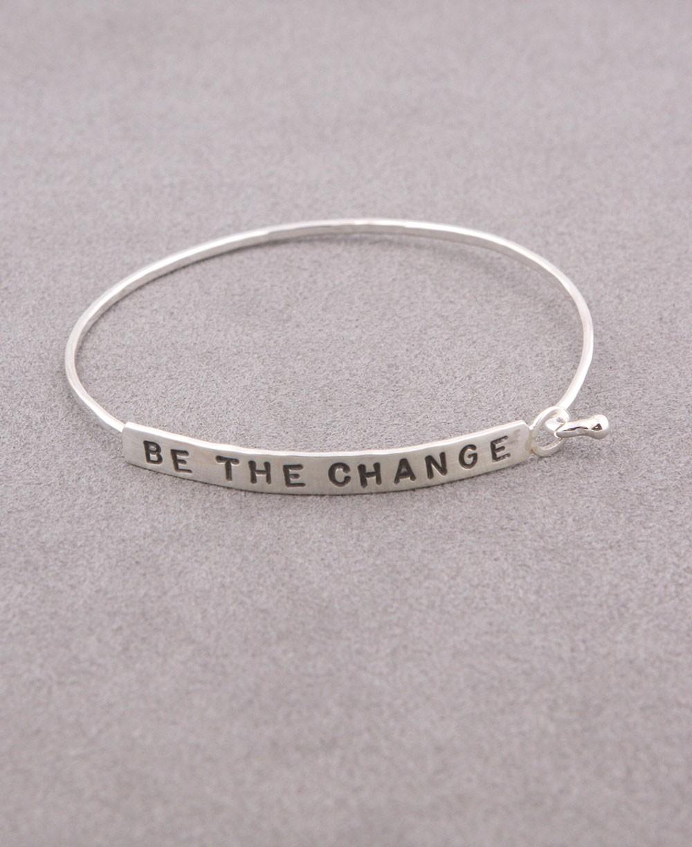 Be the Change Bracelet, Silver