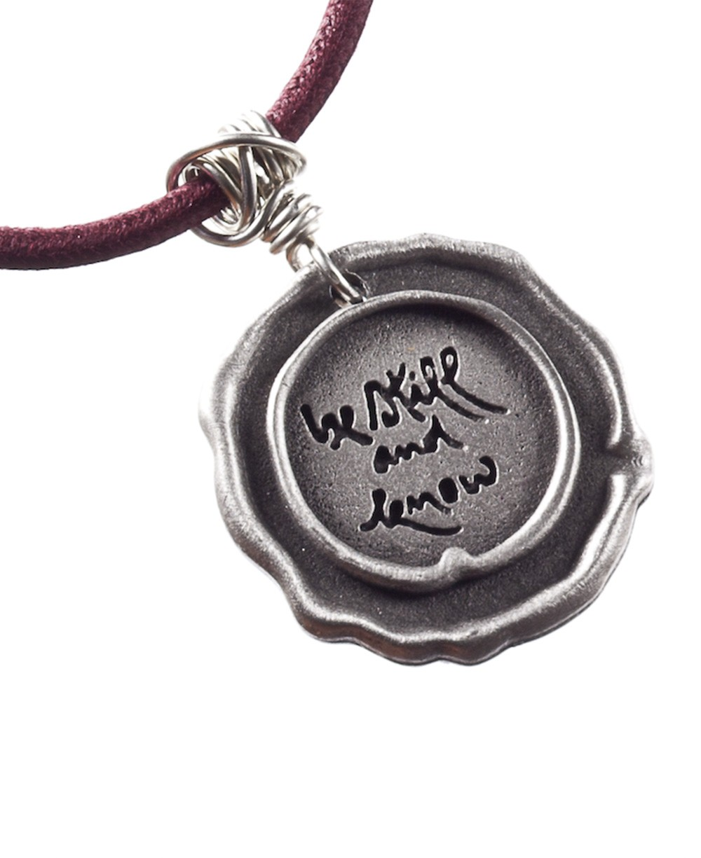 Thich Nhat Hanh Be Still and Know Pendant Necklace