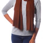 Handwoven Brown Wool Scarf