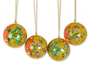 Handmade Papier mache Ornaments