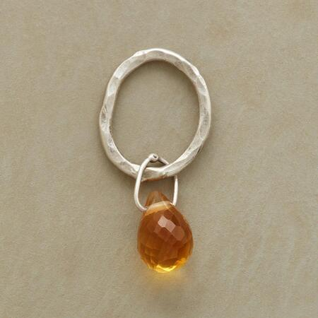Sterling Faceted Birthstone Charms - Citrine