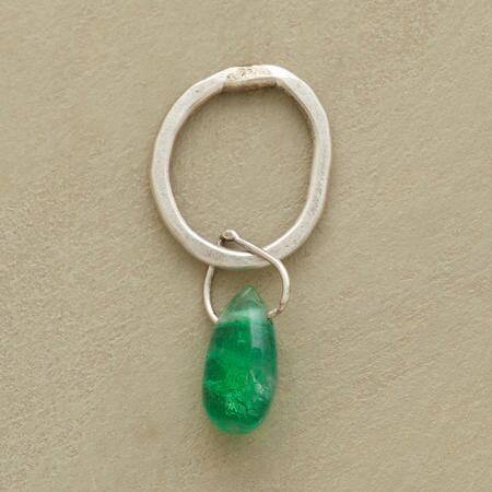Sterling Faceted Birthstone Charms - Emerald