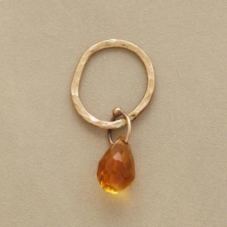 Gold Faceted Birthstone Charms - Citrine