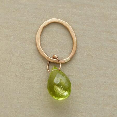 Gold Faceted Birthstone Charm - Peridot