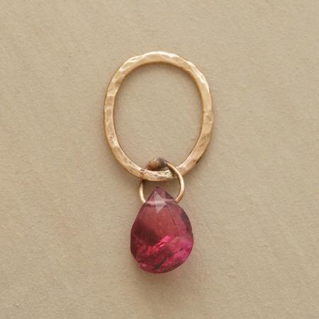 Gold Faceted Birthstone Charms - Tourmaline