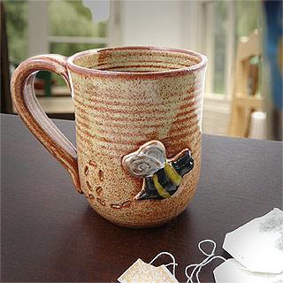 Busy Bees Stoneware Pottery Mug