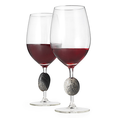 Sea Stone Wine Glasses - Set of 2