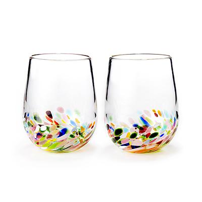 Confetti Wine Glasses - Set of 2