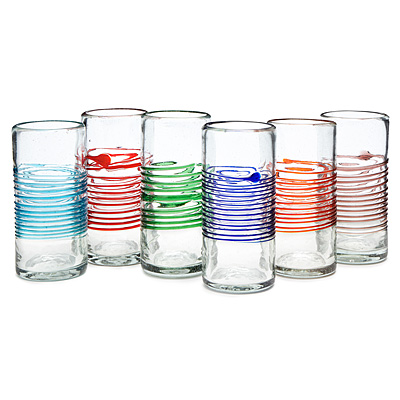 Center Stripe Tumblers - Set of 6